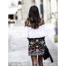 Boho Style Floral Embroidery Short Skirts