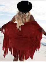 Fashion Tasseled Hollow Cape Scarves