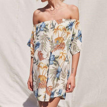 Floral Printed Off-the-shoulder Bohemia Strapless Dresses