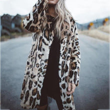Leopard long sleeve button coat