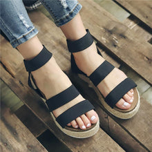 Hemp Rope Platform Women's Sandals-4color