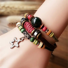 Women Star And Beads Retro Style Bracelet