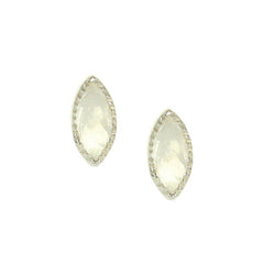 MINI TRUST STUD EARRINGS - MOONSTONE & SILVER
