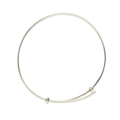 Adjustable Silver Bangle