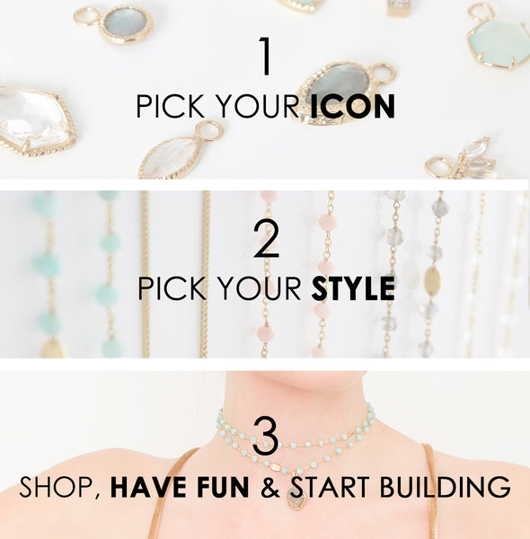 1 Pick Your Icon, 2 Pick Your Style, 3 Shop, Have Fun & Start Building