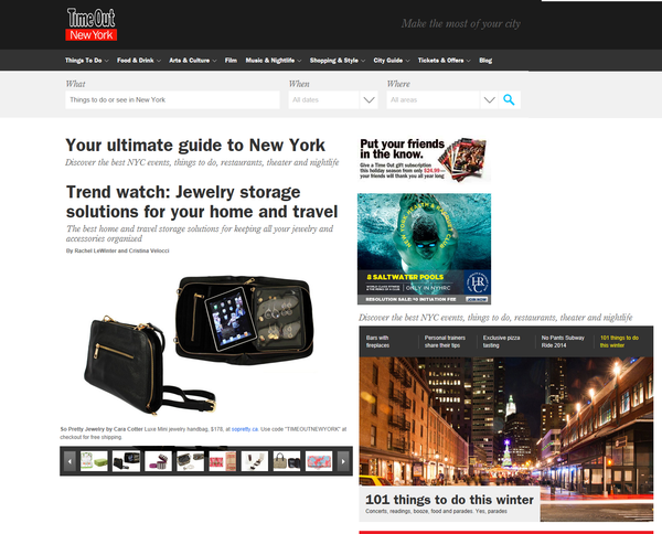 Time Out New York - Jewelry Bag