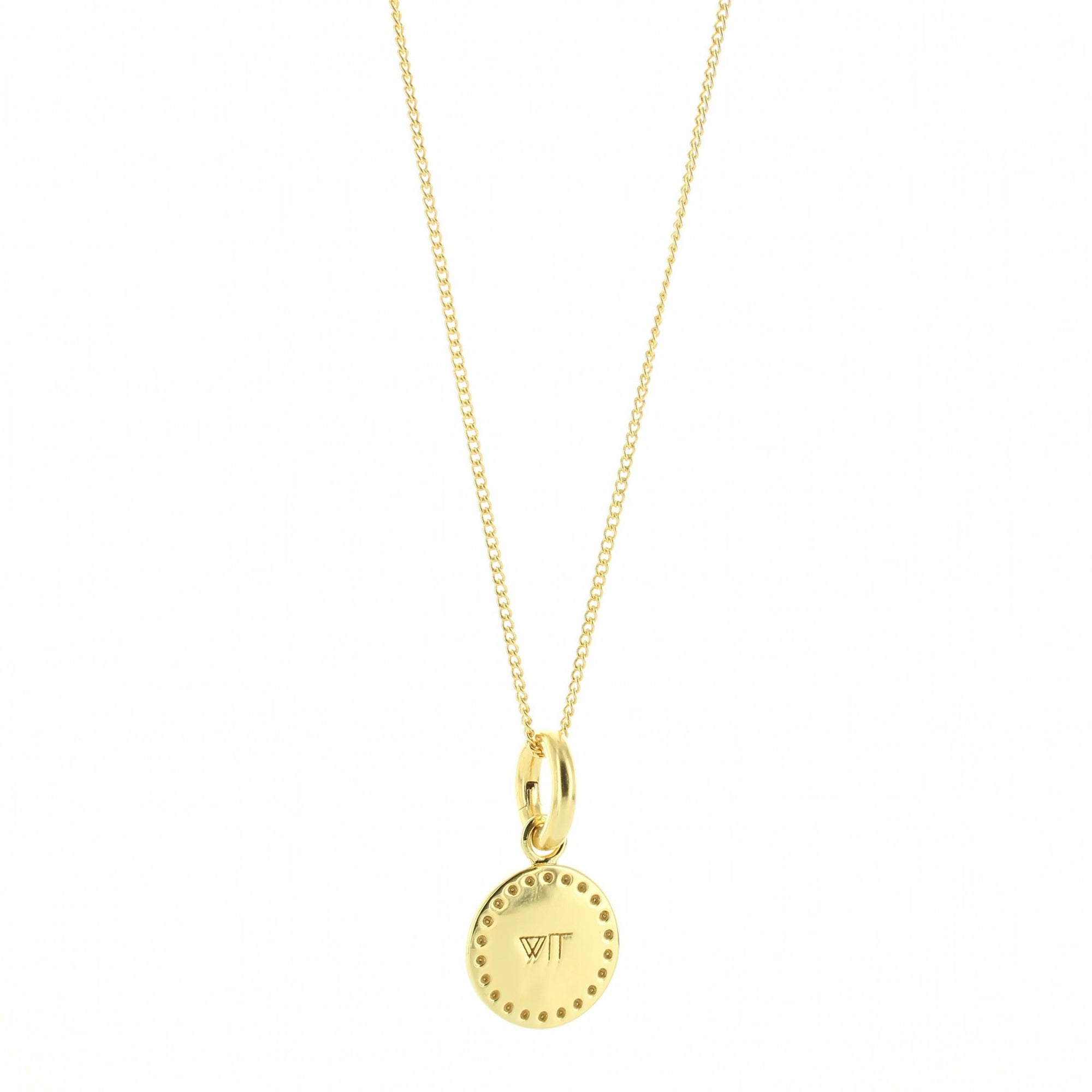 WIT FLOATING CHARM PENDANT ALL METAL GOLD