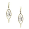 Fearless Marquise Hoop Earrings - White Topaz & Silver