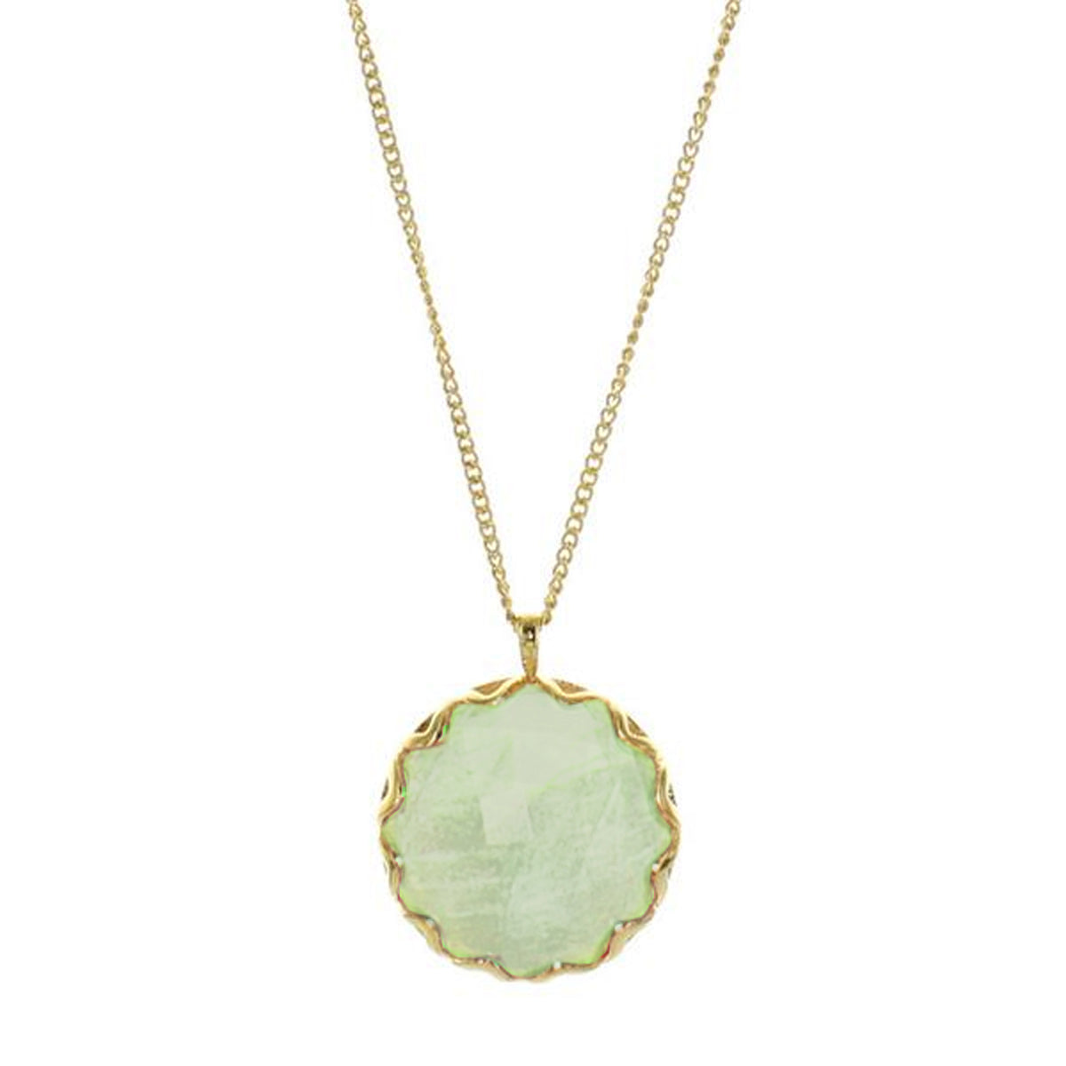 FEARLESS NECKLACE - MINT PREHNITE & GOLD