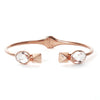 GLEE CUFF - ROCK CRYSTAL & ROSE GOLD