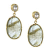 FEARLESS EARRINGS - LABRADORITE, WHITE TOPAZ & GOLD