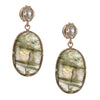 FEARLESS EARRINGS - LABRADORITE, WHITE TOPAZ & ROSE GOLD