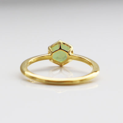 GRACE RING MINT PREHNITE & GOLD