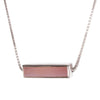MINI JOY REVERSIBLE NECKLACE - PINK CHALCEDONY & SILVER