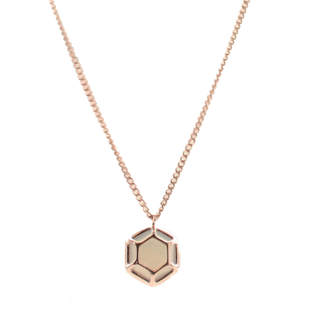GRACE NECKLACE - GREY MOONSTONE & ROSE GOLD