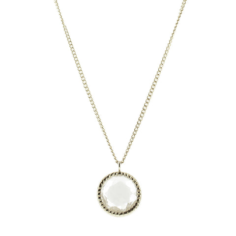 MINI LEGACY NECKLACE - WHITE TOPAZ & SILVER