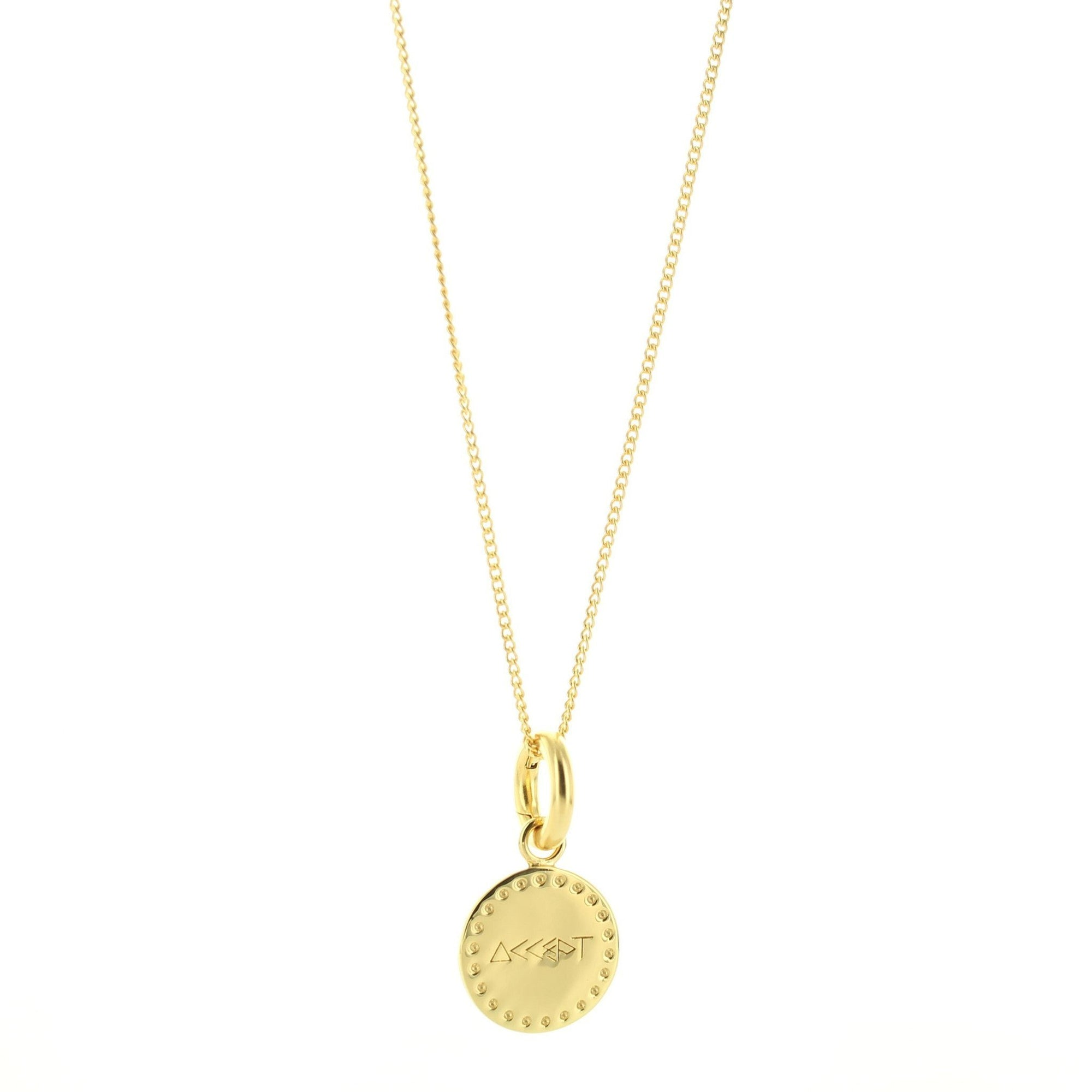 ACCEPT FLOATING CHARM PENDANT ALL METAL GOLD - SO PRETTY CARA COTTER