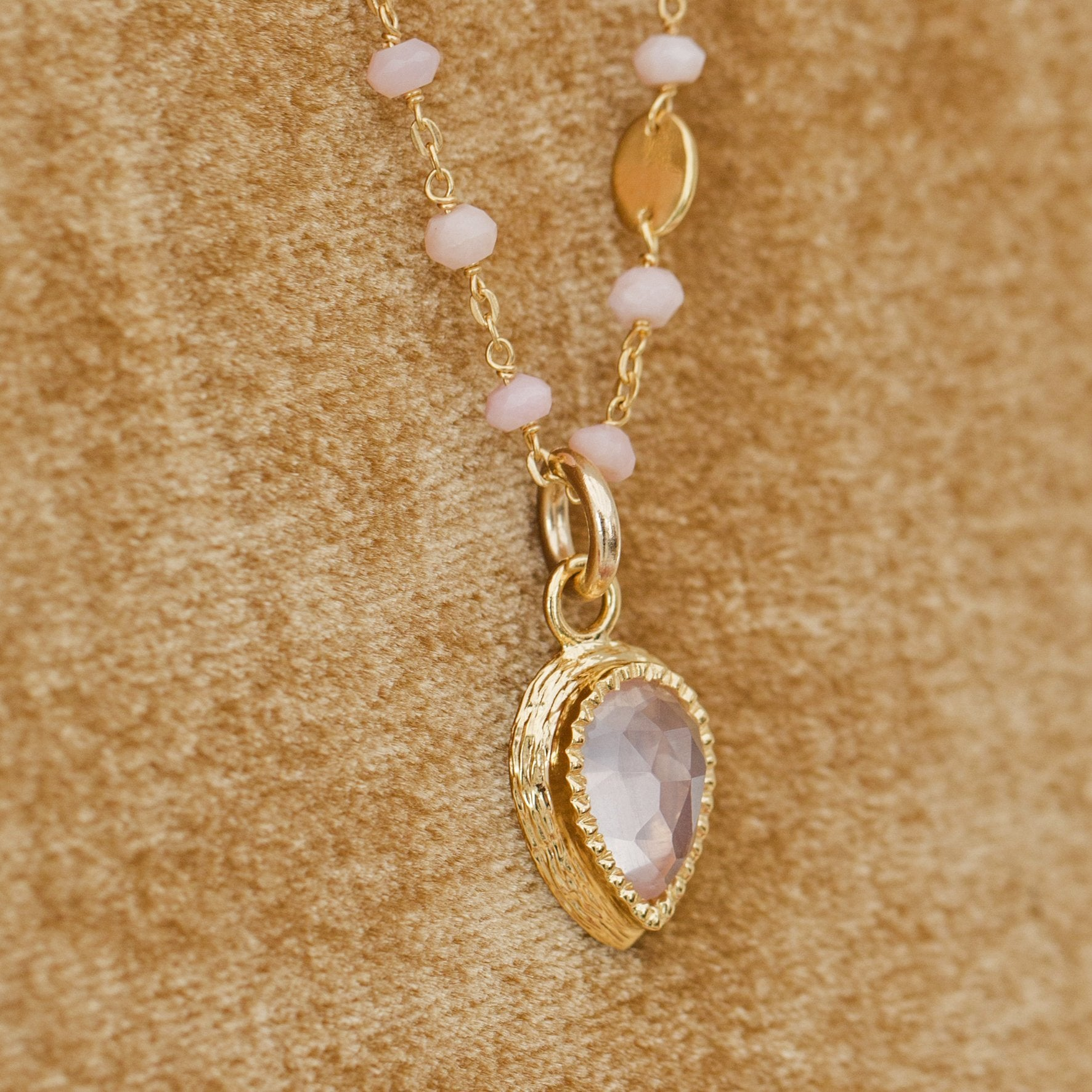 ADORE ICON - PINK QUARTZ & GOLD - SO PRETTY CARA COTTER