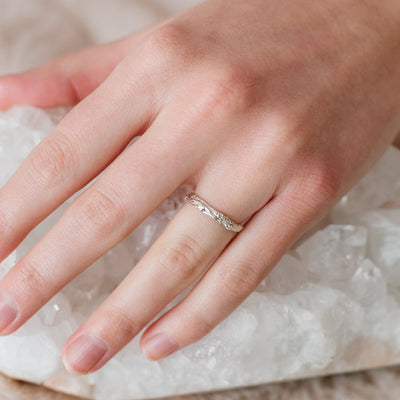 ADORE STACKING RING & PENDANT SILVER - SO PRETTY CARA COTTER