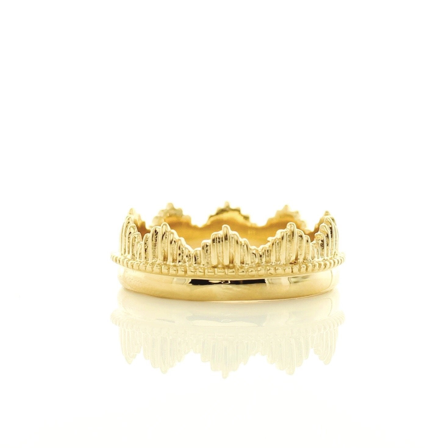 BELIEVE SOLEIL CROWN RING - GOLD - SO PRETTY CARA COTTER