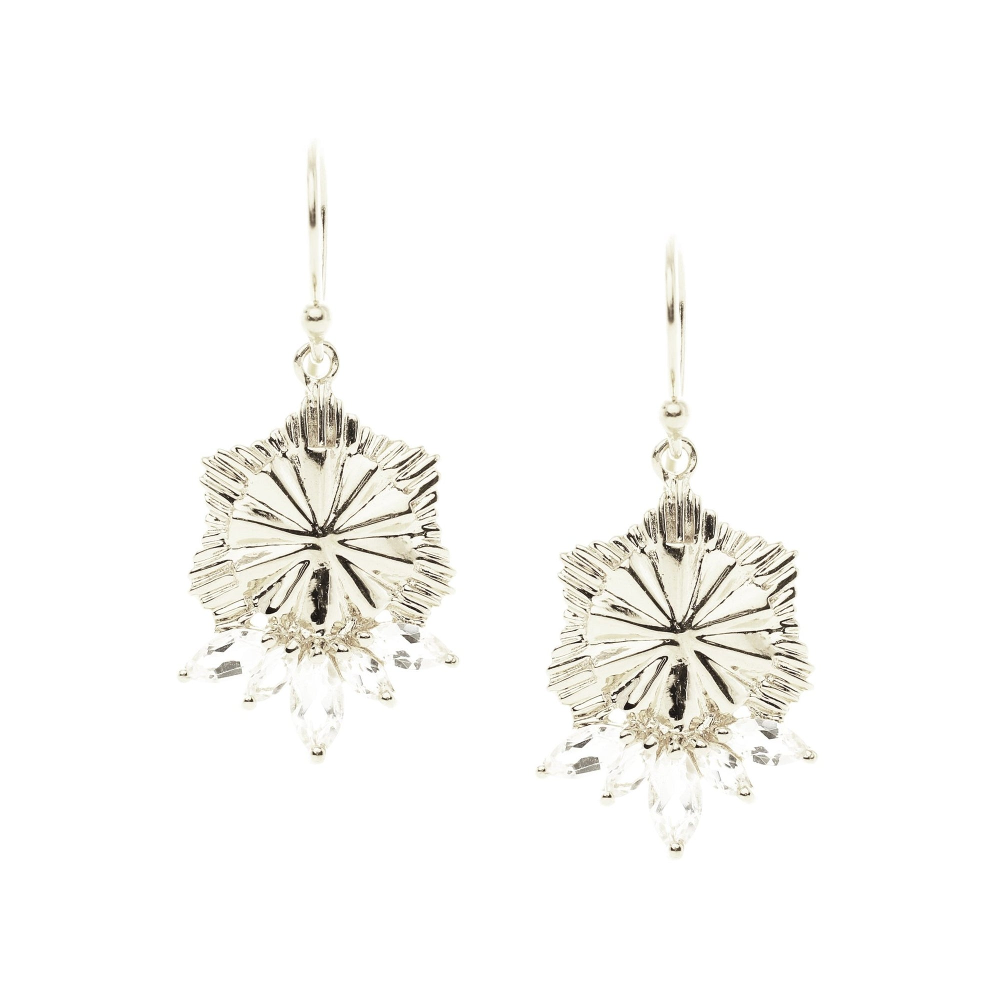 BELIEVE SOLEIL DROP EARRINGS - WHITE TOPAZ & SILVER - SO PRETTY CARA COTTER