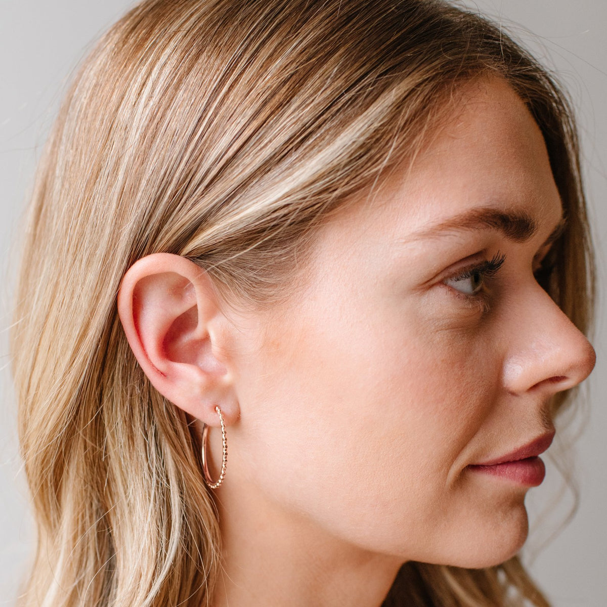 BELIEVE SOLEIL HOOPS - ROSE GOLD - SO PRETTY CARA COTTER