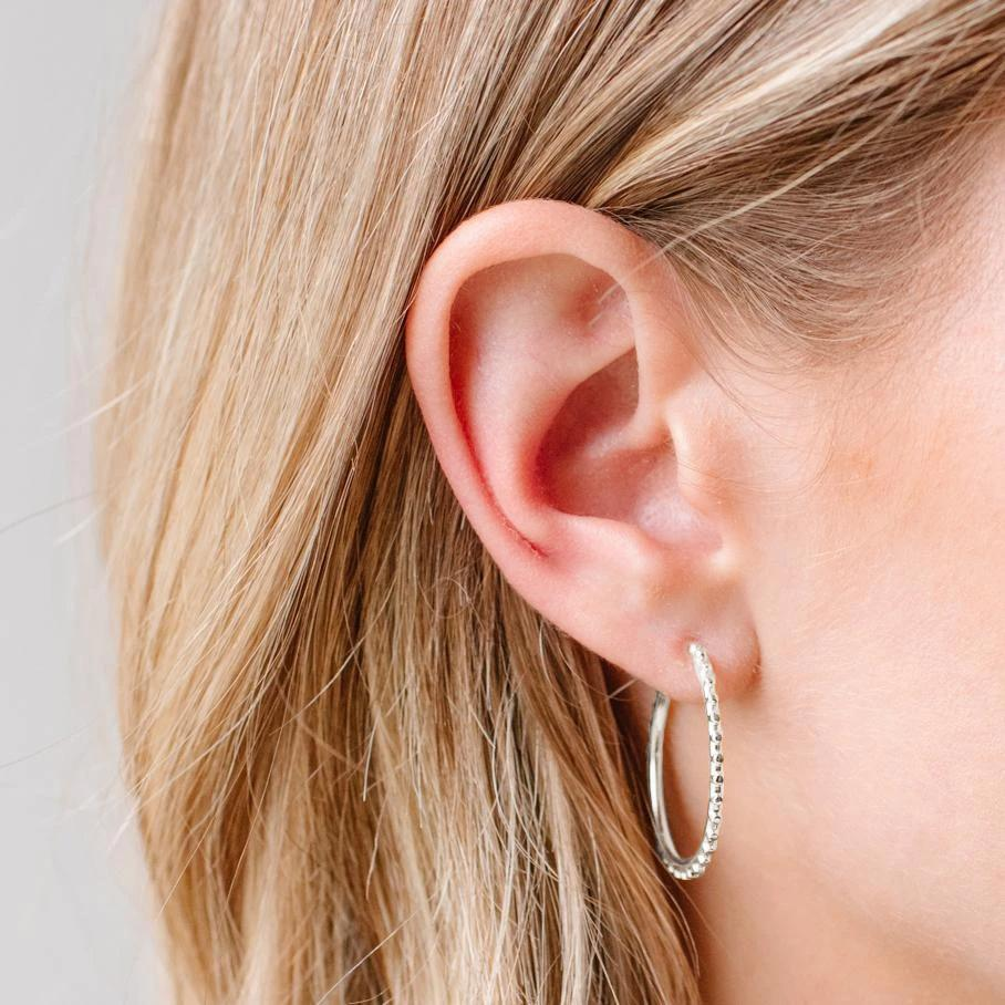 BELIEVE SOLEIL HOOPS - SILVER - SO PRETTY CARA COTTER