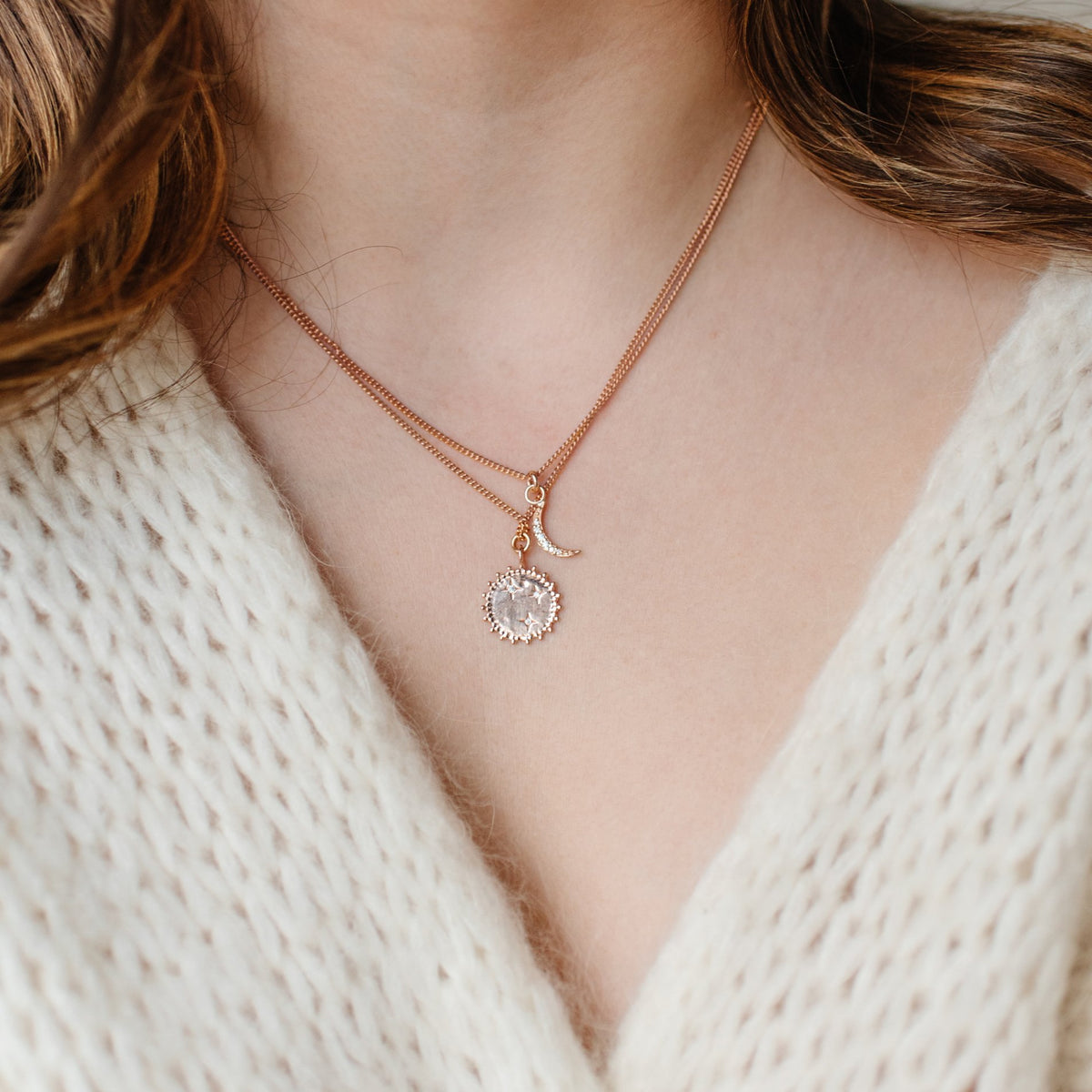 BELIEVE SOLEIL STAR ICON - CUBIC ZIRCONIA & ROSE GOLD - SO PRETTY CARA COTTER