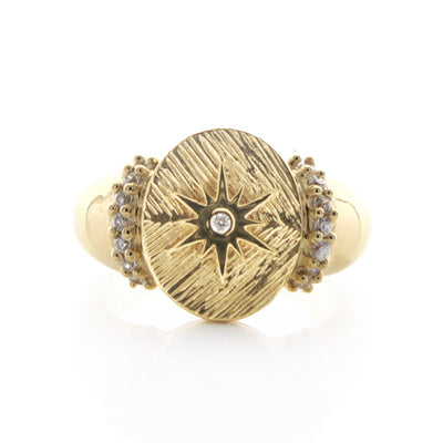 BELIEVE STELLAR COCKTAIL RING - CUBIC ZIRCONIA & GOLD - SO PRETTY CARA COTTER