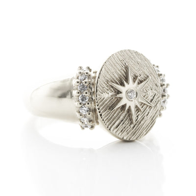 BELIEVE STELLAR COCKTAIL RING - CUBIC ZIRCONIA & SILVER - SO PRETTY CARA COTTER