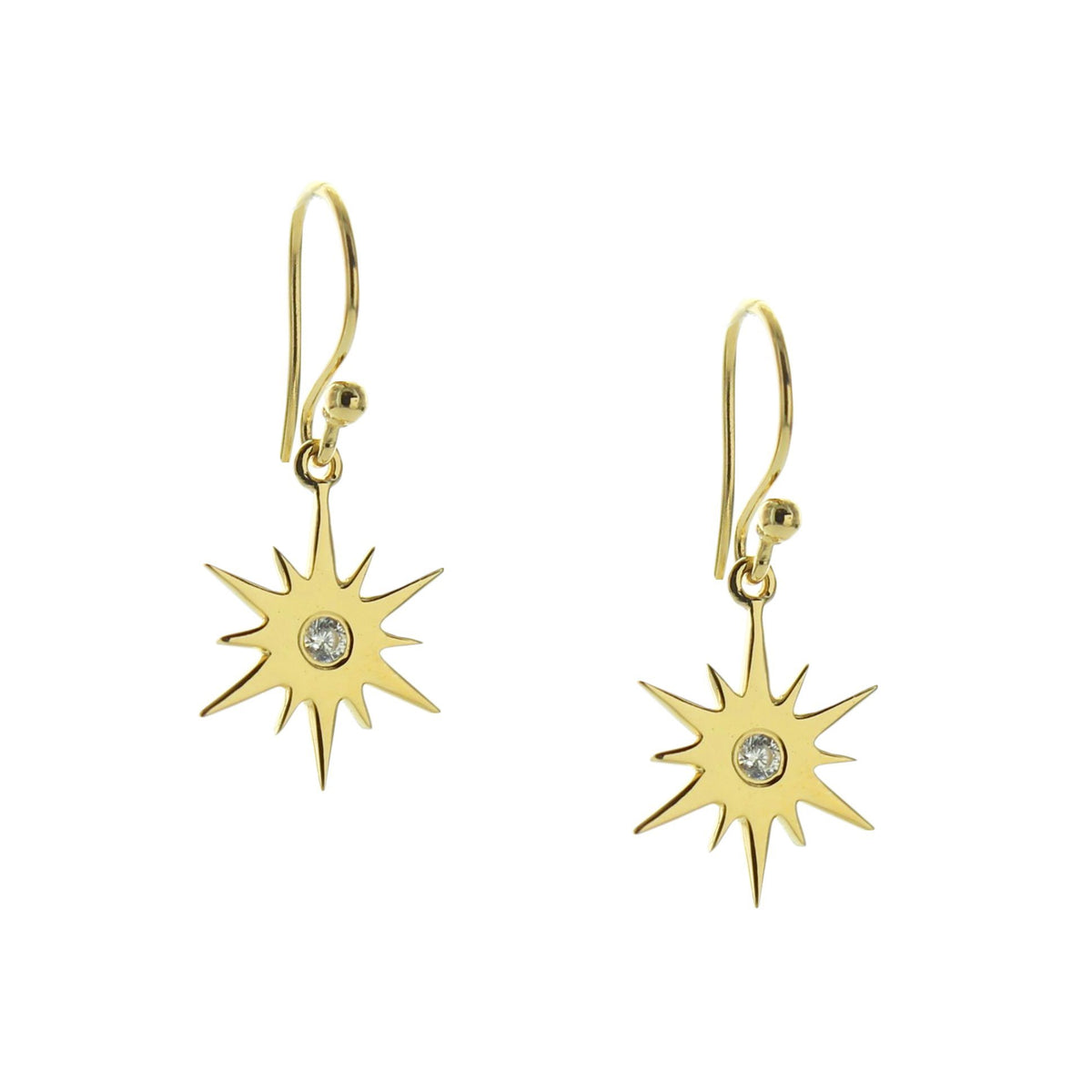 BELIEVE STELLAR DROP EARRINGS - CUBIC ZIRCONIA & GOLD - SO PRETTY CARA COTTER