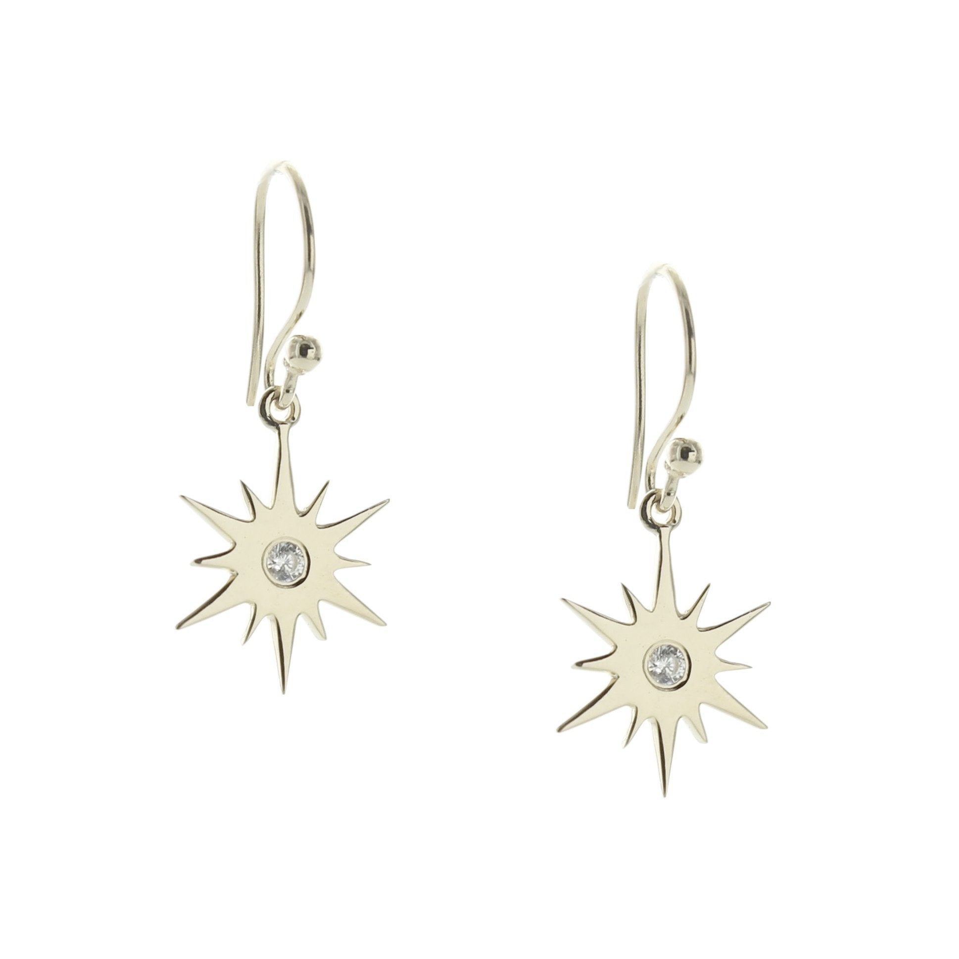 BELIEVE STELLAR DROP EARRINGS - CUBIC ZIRCONIA & SILVER - SO PRETTY CARA COTTER