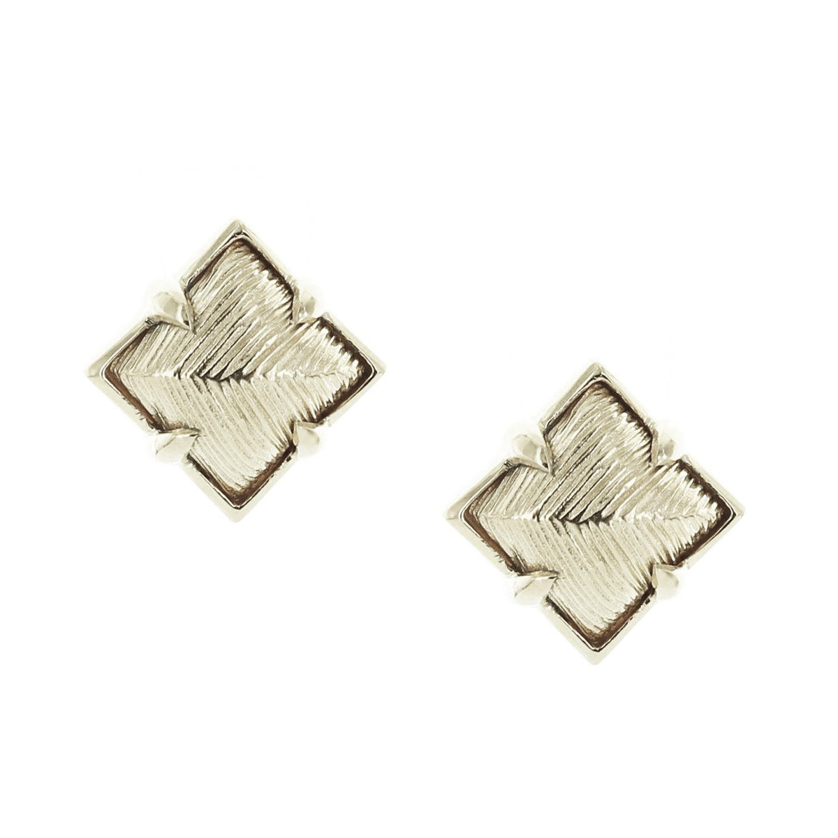 BRAVE DIAMOND STUD EARRINGS - SILVER - SO PRETTY CARA COTTER