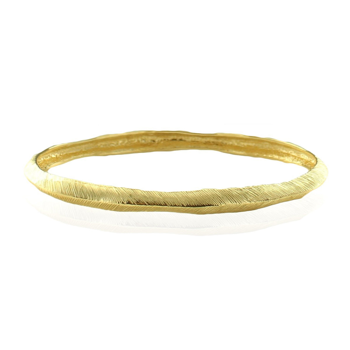 BRAVE OVAL BANGLE - GOLD - SO PRETTY CARA COTTER