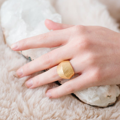 BRAVE RING - GOLD - SO PRETTY CARA COTTER