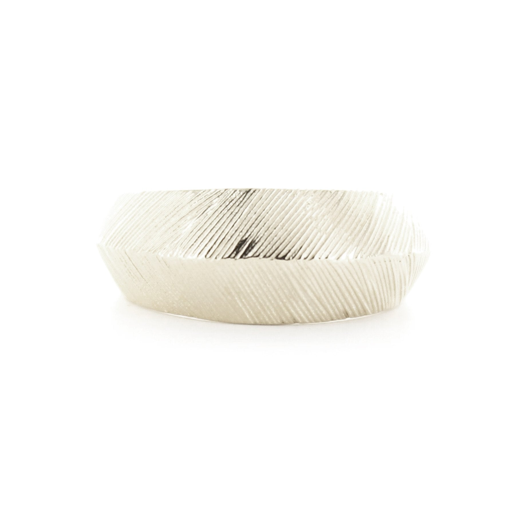 BRAVE SLIM BAND RING - SILVER - SO PRETTY CARA COTTER