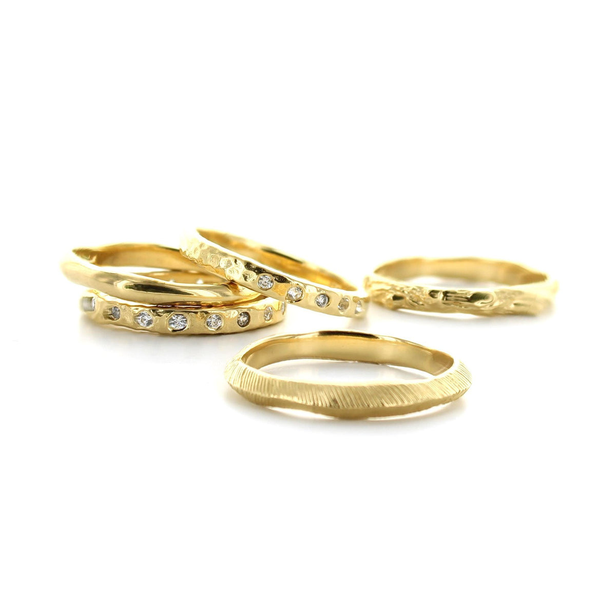 BRAVE STACKING RING & PENDANT GOLD - SO PRETTY CARA COTTER