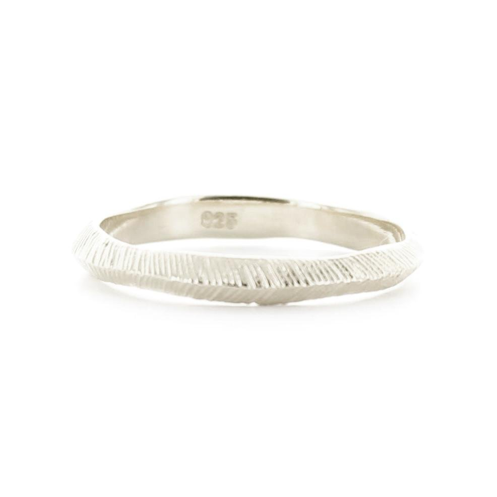BRAVE STACKING RING & PENDANT SILVER - SO PRETTY CARA COTTER