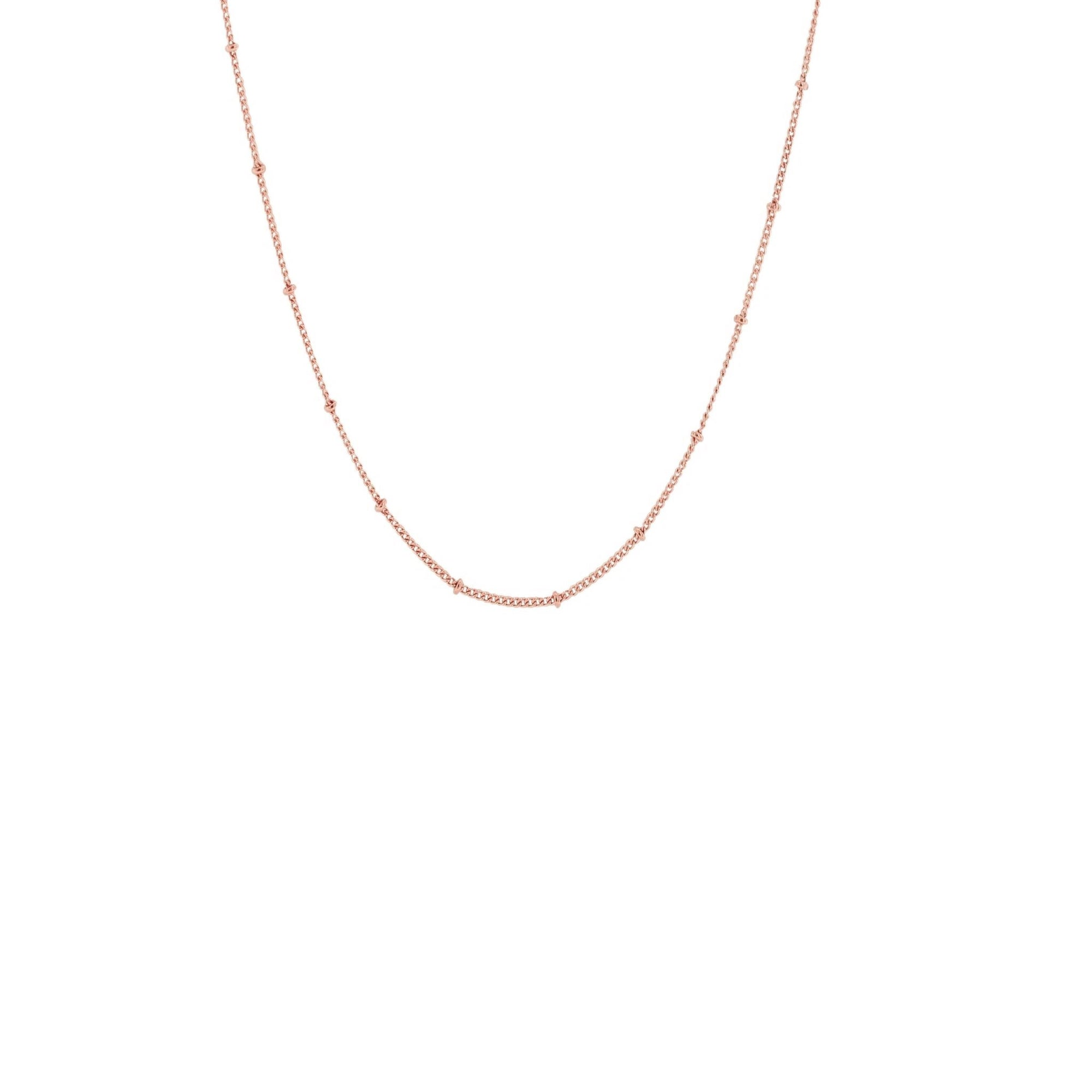 "CHARMING 14-17"" SHORT BEADED NECKLACE ROSE GOLD - SO PRETTY CARA COTTER"
