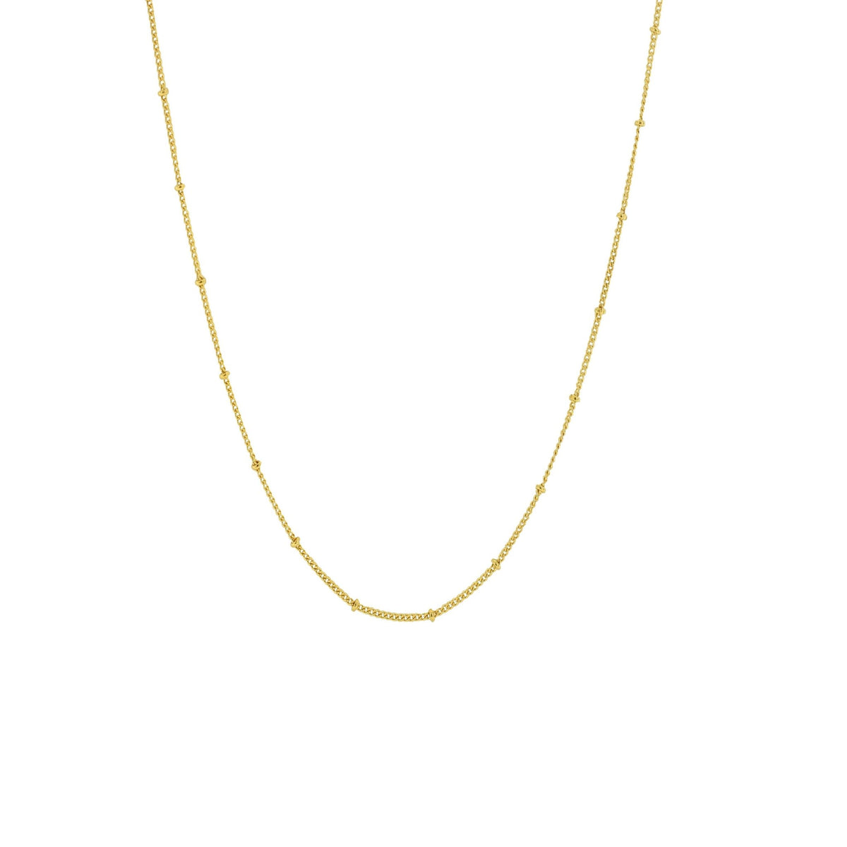 "CHARMING 22-24"" BEADED NECKLACE GOLD- PREORDER - SO PRETTY CARA COTTER"