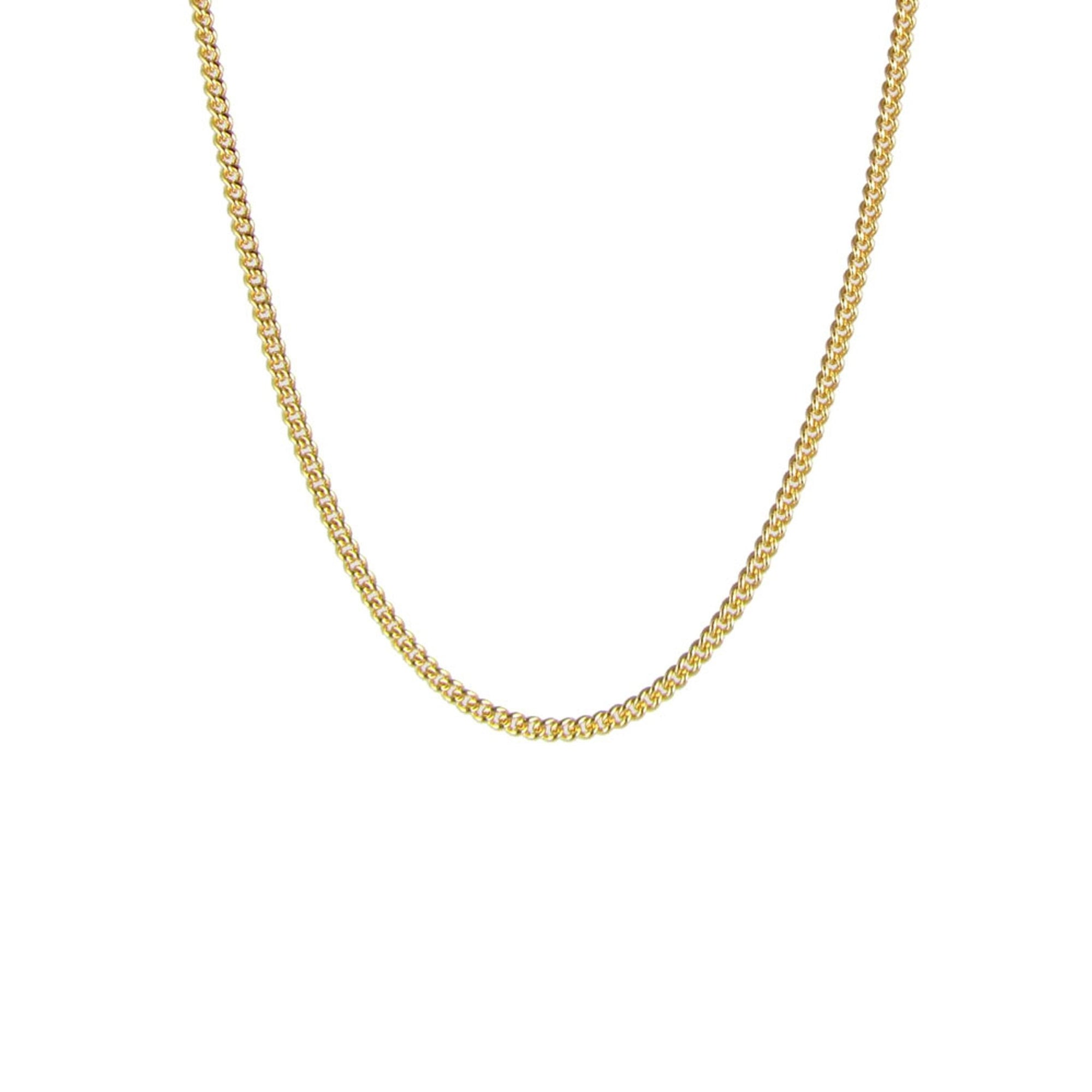"CHARMING CURB CHAIN 14-17 "" NECKLACE GOLD - SO PRETTY CARA COTTER"