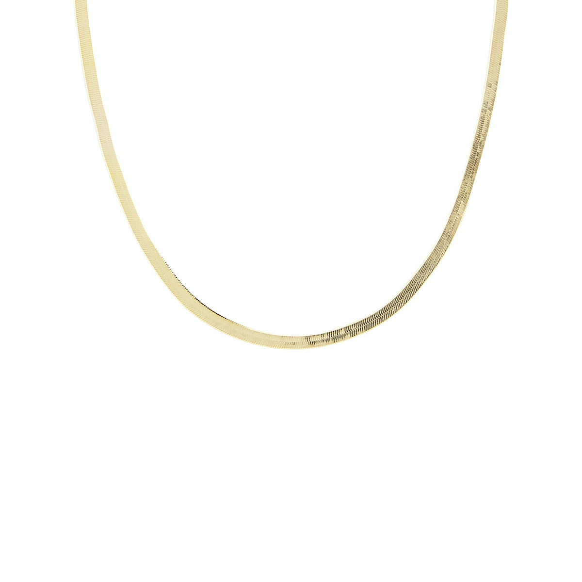 "CHARMING HERRINGBONE CHAIN 14-16.5 "" NECKLACE GOLD - SO PRETTY CARA COTTER"