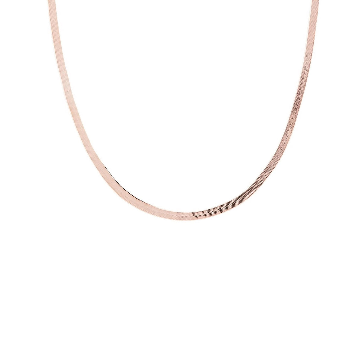 "CHARMING HERRINGBONE CHAIN 14.5 - 16"" NECKLACE ROSE GOLD - SO PRETTY CARA COTTER"