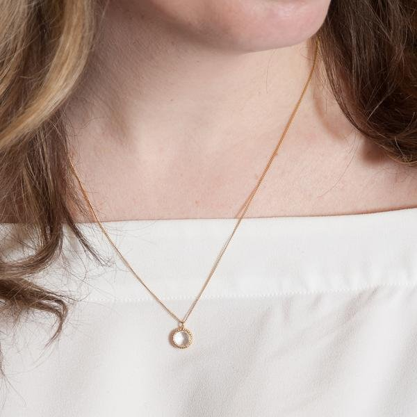 DAINTY LEGACY NECKLACE - WHITE TOPAZ & GOLD - SO PRETTY CARA COTTER