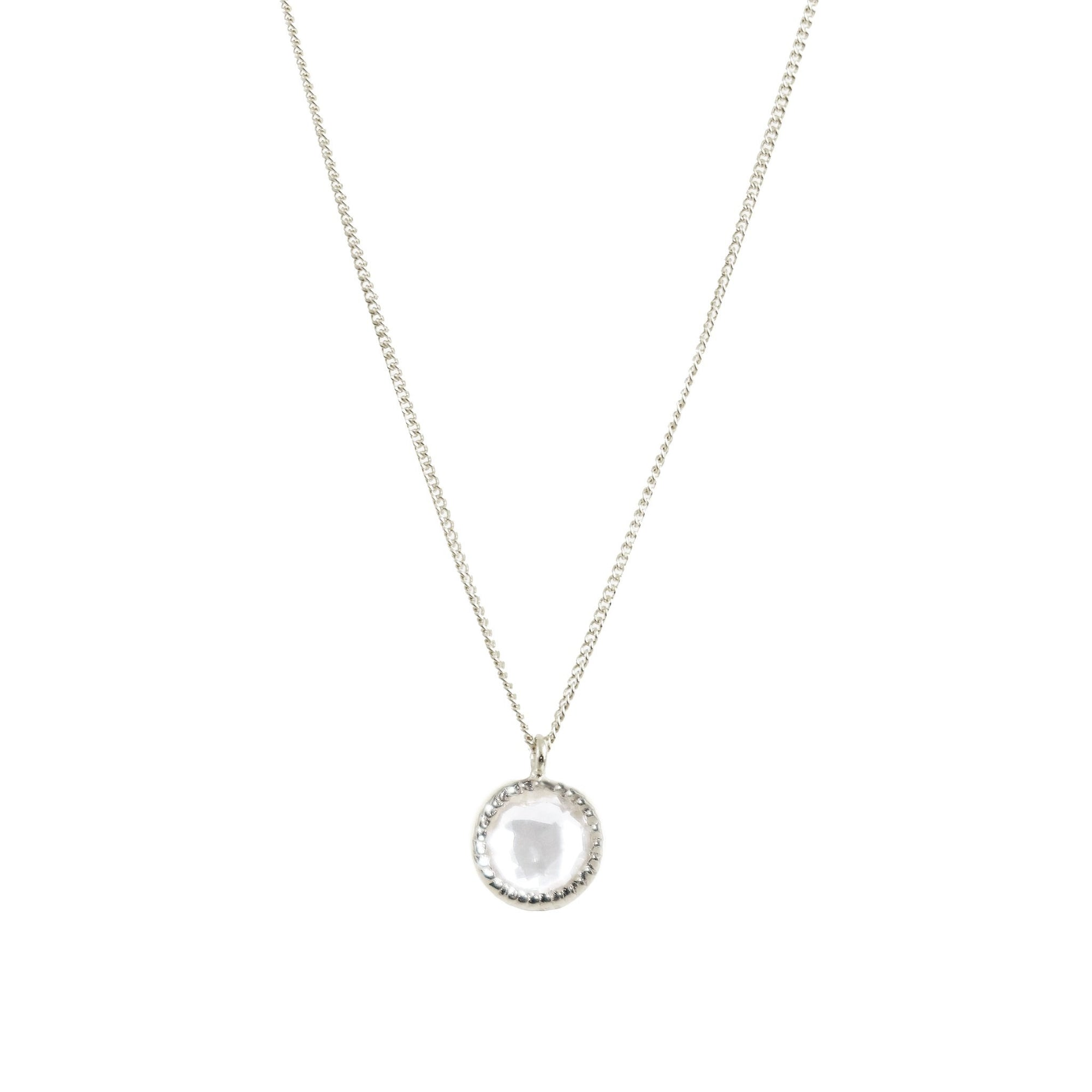 DAINTY LEGACY NECKLACE - WHITE TOPAZ & SILVER - SO PRETTY CARA COTTER