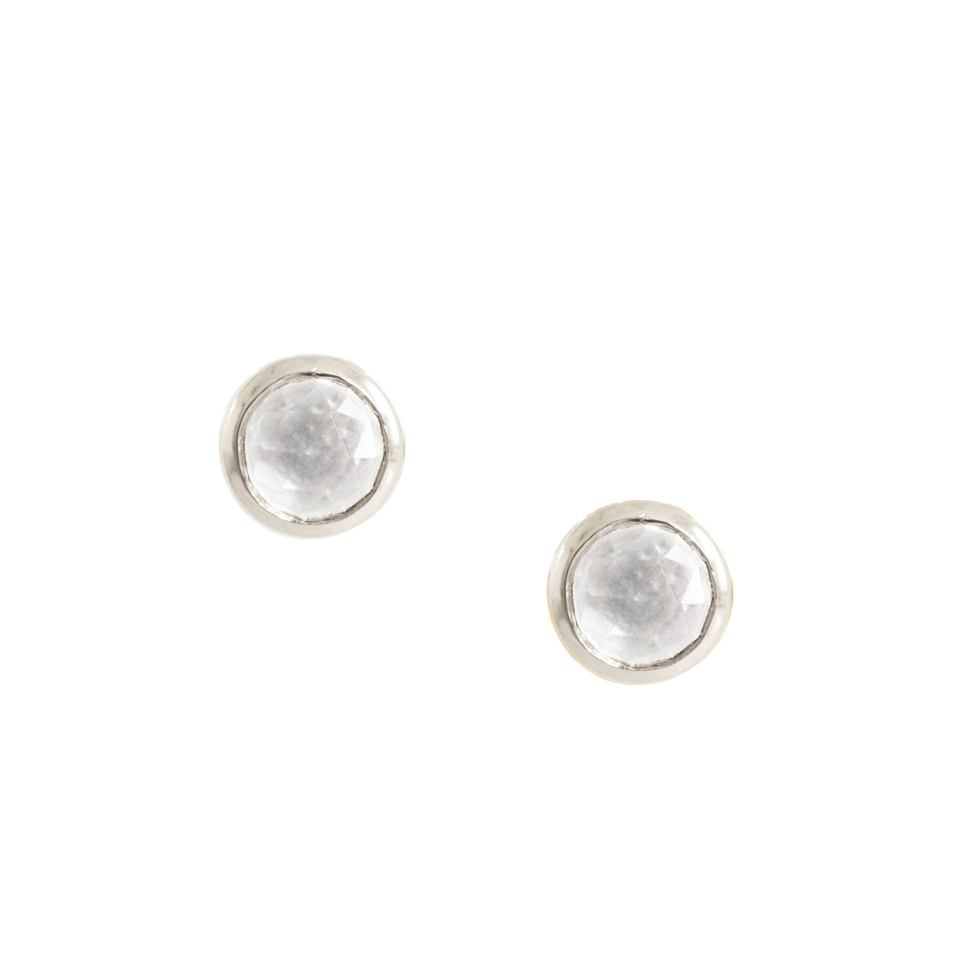 DAINTY LEGACY STUDS - WHITE TOPAZ & SILVER - SO PRETTY CARA COTTER
