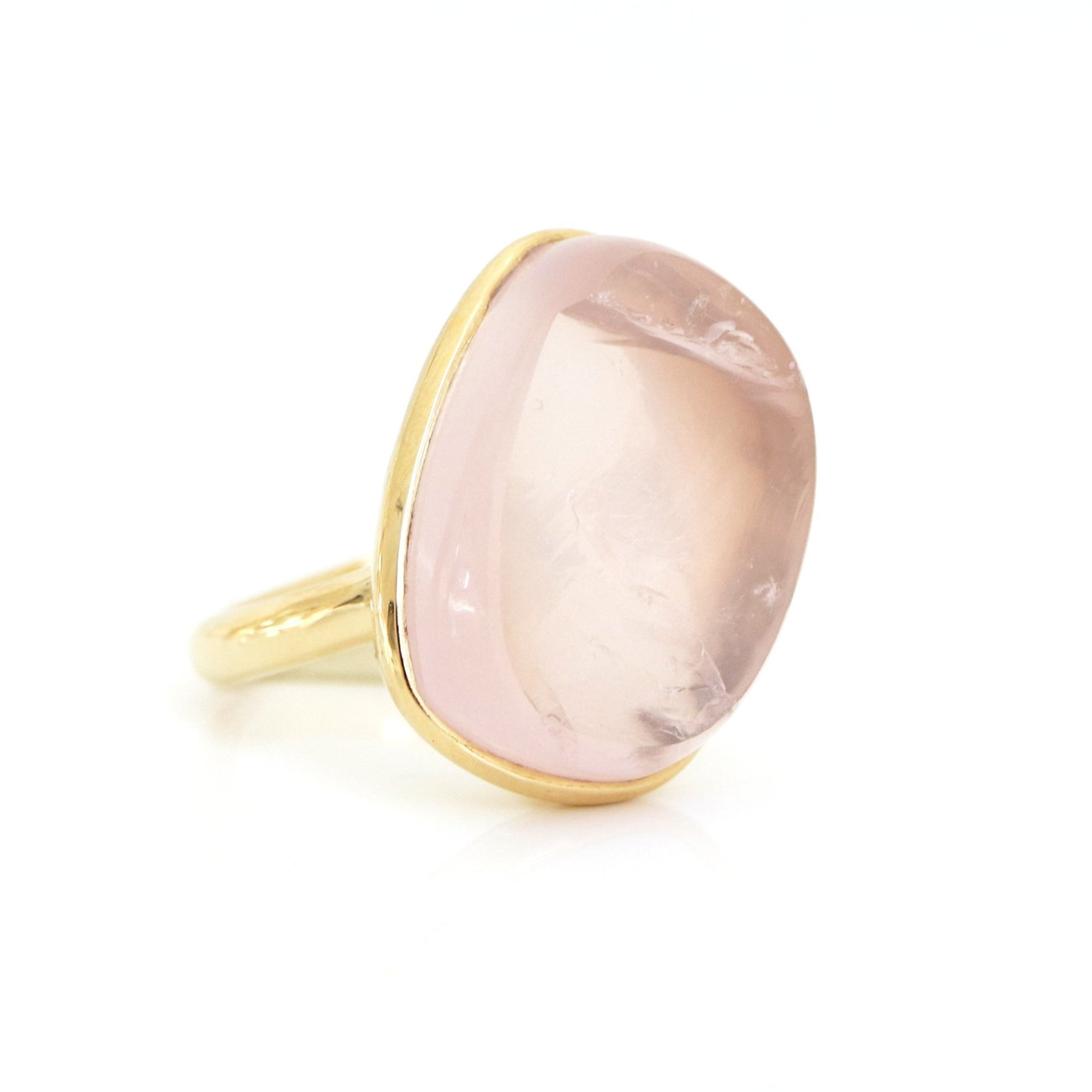 DARING RING - RAW PINK QUARTZ & GOLD - SO PRETTY CARA COTTER