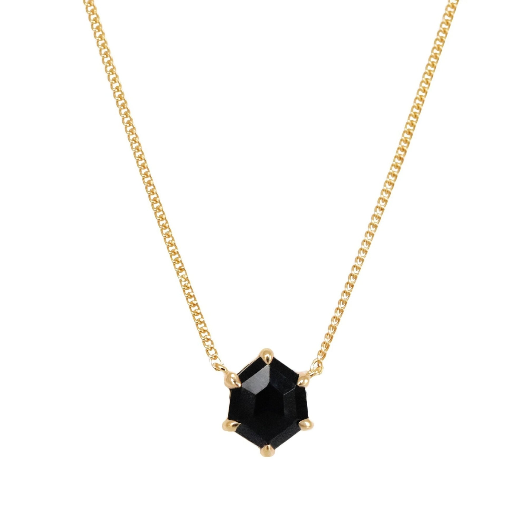 DAY 6 - MINI HONOUR NECKLACE - BLACK ONYX & GOLD - SO PRETTY CARA COTTER