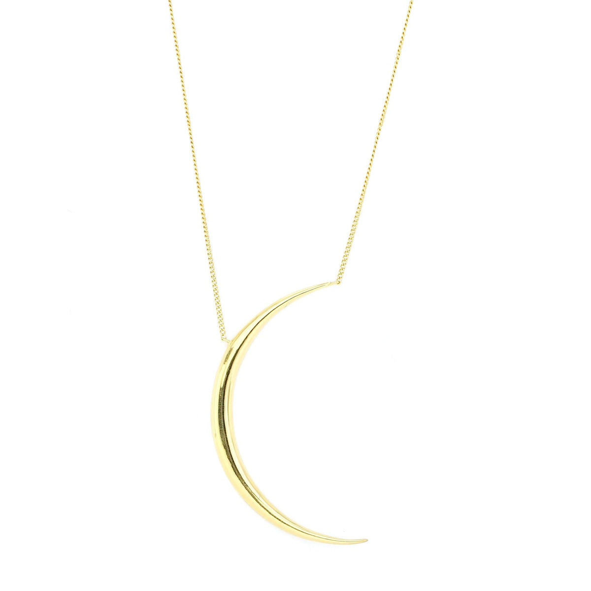 DREAM LUNA CRESCENT PENDANT NECKLACE - GOLD - SO PRETTY CARA COTTER