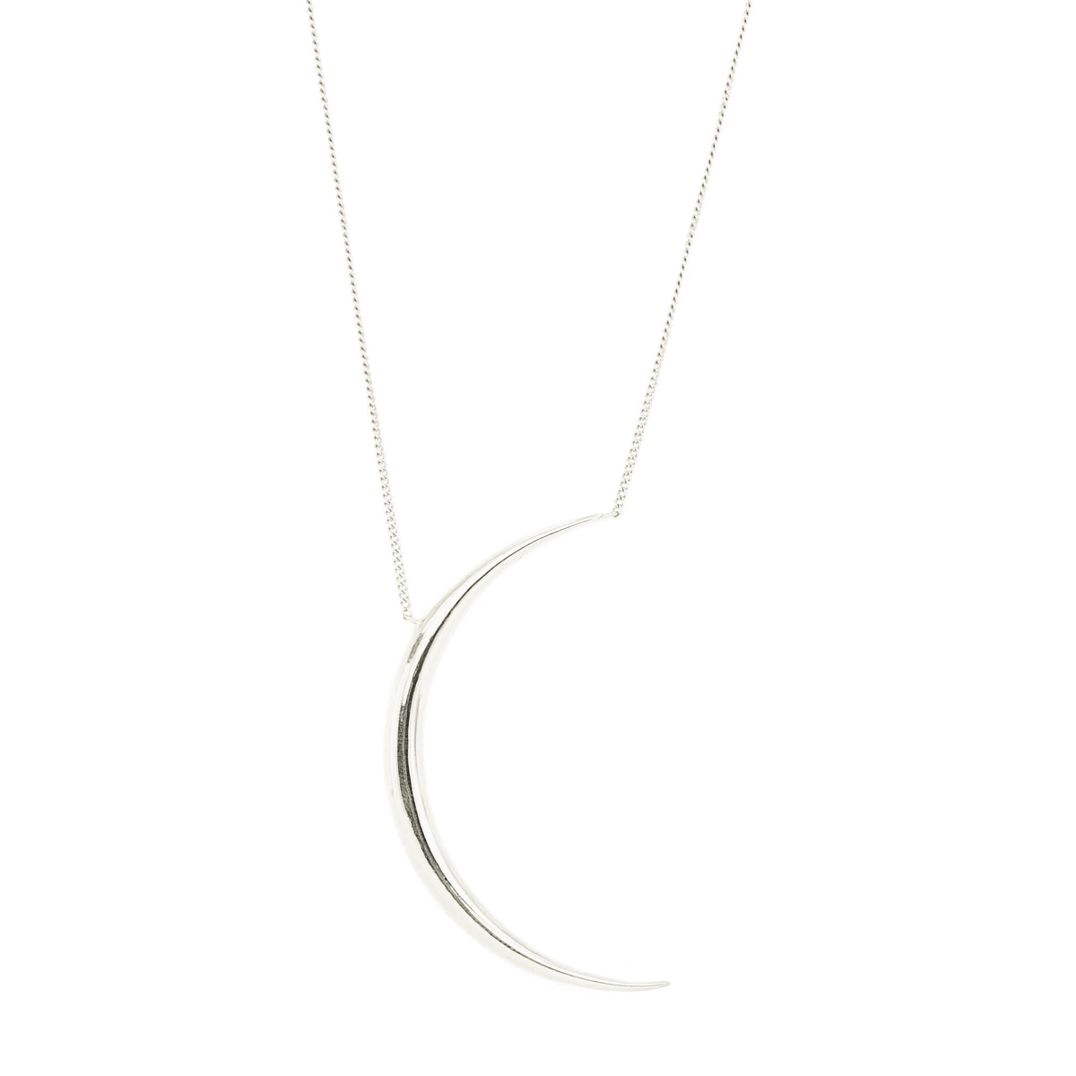 DREAM LUNA CRESCENT PENDANT NECKLACE - SILVER - SO PRETTY CARA COTTER